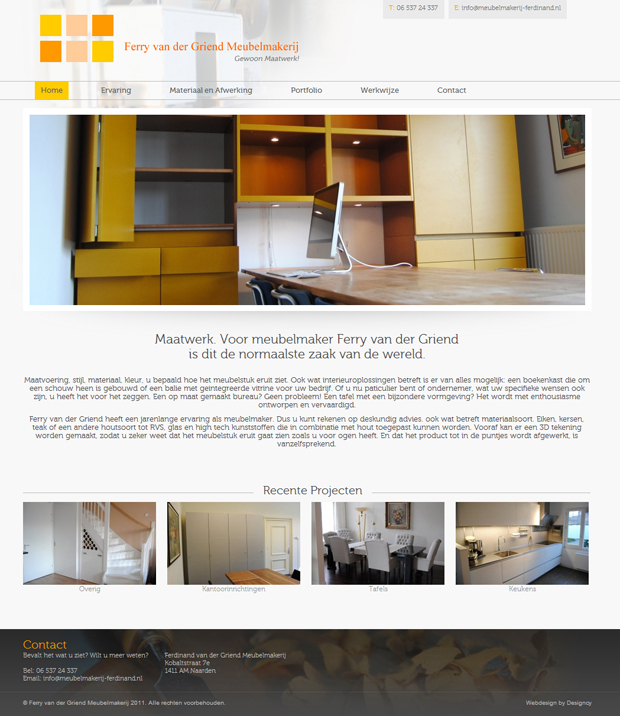 Website ontwerp by Designcy