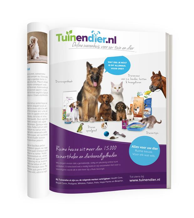 Tuinendier.nl dierenmagazine advertentie