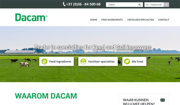 Dacam website ontwerp door Designcy